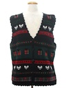 Unisex Country Kitsch Style Ugly Christmas Sweater Vest