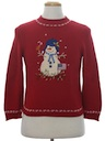 Womens Patriotic Ugly Christmas Sweater