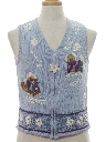 Womens Bear-riffic Ugly Christmas Sweater Vest
