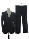 Mens Fine Wool Three Piece Disco Suit