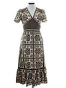 Womens Maxi Peasant Style Hippie Dress
