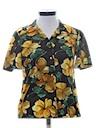 Womens Print Hawaiian Style Sport Shirt