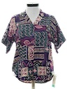Womens Totally 80s Hawaiian Style Sport Shirt