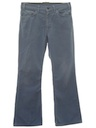 Mens Corduroy Flared Jeans-Cut Pants
