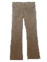Mens Corduroy Jeans-Cut Bellbottom Pants
