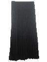 Womens Pleated Wool Maxi Skirt