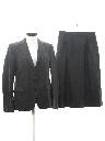 Womens Wool Two Piece Skirt Suit