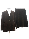 Womens Two Piece Skirt Suit