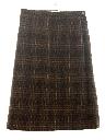 Womens Mod Plaid Wool Skirt
