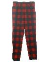 Womens Mod Pendleton Plaid Wool Pants