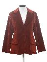 Womens Velveteen Blazer Sport Coat Jacket