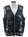 Womens Cheesy Ugly Farm Themed Sweater Vest