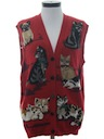Womens Crazy Cat Lady Sweater Vest