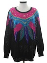 Womens Totally 80s Oversized Sweater
