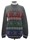 Womens Wicked 90s Reindeer and Snowflake Ski Sweater