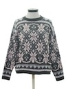 Womens Snowflake Ski Sweater