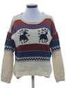 Womens Reindeer Print Ski Sweater