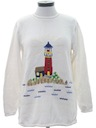 Womens Cheesy Lighthouse Sweater