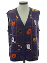 Womens Cheesy Halloween Sweater Vest