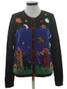 Womens Cheesy Kitschy Halloween Sweater