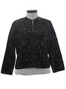 Womens Sequined Cocktail Cardigan Sweater