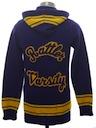 Womens Cardigan Varsity Lettermans Sweater