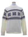 Mens Snowflake Ski Sweater