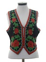 Womens Totally 80s Hippie Style Vest