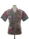 Mens Mod Reverse Print Hawaiian Shirt Jac