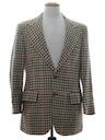 Mens Wool Plaid Blazer Sport Coat Jacket