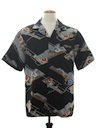 Mens Abstract Print Disco Style Hawaiian Shirt