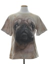 Unisex Animal Print Pug Dog T-Shirt