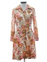 Womens Pow-Flower Print Mod Dress