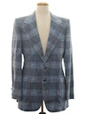 Mens Disco Sport Coat Plaid Blazer Jacket