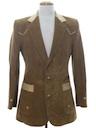Mens Western Blazer Corduroy Sport Coat Jacket