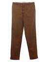 Mens Mod Flat Front Slacks Pants