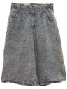 Womens Totally 80s Acid Washed Denim Skort Skirt