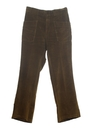 Mens Mod Corduroy Flared Jeans Cut Pants