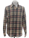 Mens/Boys Plaid Shirt