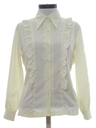 Womens Frilly Ruffled Secretary Shirt