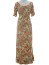 Womens Hippie Summer Maxi Dress