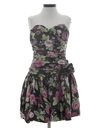 Womens Mini Totally 80s Prom Or Cocktail Dress