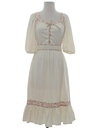 Womens Bavarian Dirndl Insired Hippie Dress
