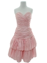 Womens Designer Pretty In Pink Prom Or Cocktail Dress