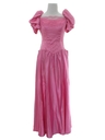Womens Pretty in Pink Prom Or Cocktail Dress