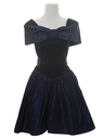 Womens Velvet Totally 80s Prom Or Cocktail Dress