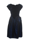 Womens Designer Totally 80s Velvet Prom Or Cocktail Dress