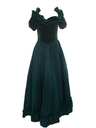 Womens Princess Style Totally 80s Velvet Prom Or Cocktail Maxi Dress