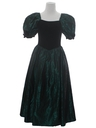 Womens Princess Style Totally 80s Velvet Prom Cocktail Maxi Dress
