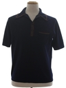 Mens Mod Knit Polo Shirt